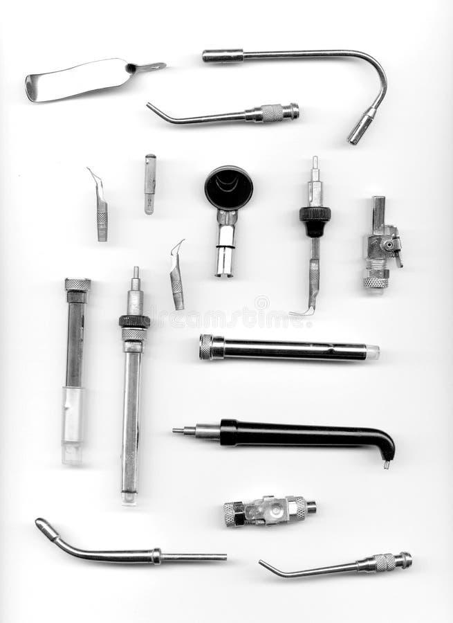зубоврачебные старые инструменты стоковые изображения rf