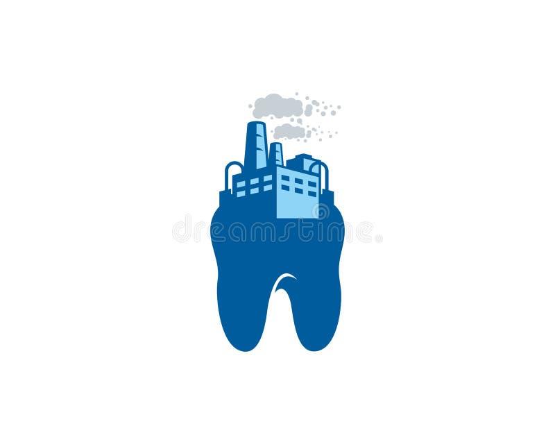 Зубоврачебный дизайн значка логотипа фабрики бесплатная иллюстрация