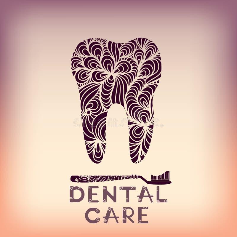 Зубоврачебный дизайн логотипа иллюстрация штока