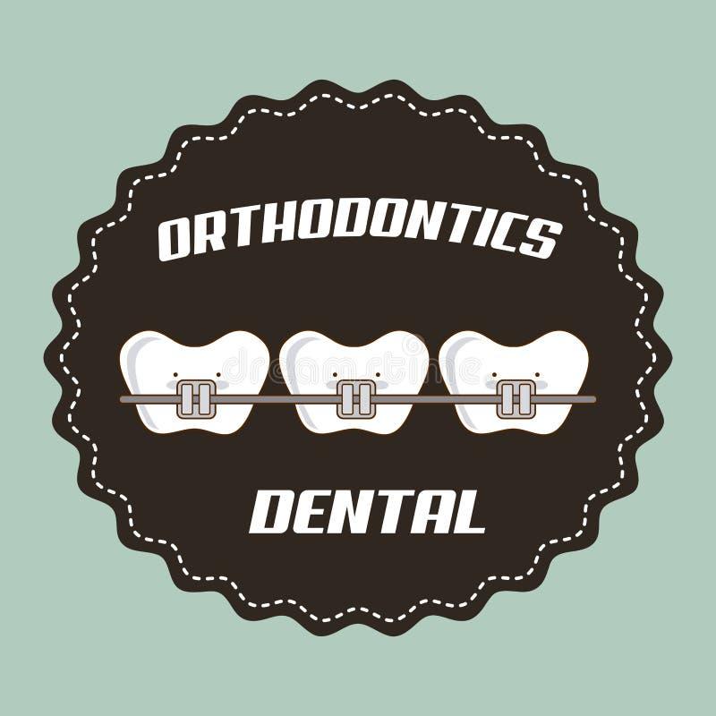 Зубоврачебный дизайн иллюстрация штока