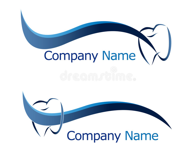 зубоврачебный логос иллюстрация вектора