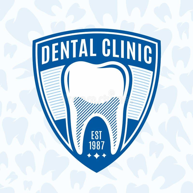 Зубоврачебный логотип клиники иллюстрация штока