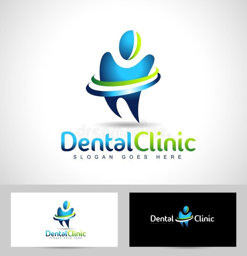 Зубоврачебный логотип дантиста иллюстрация вектора