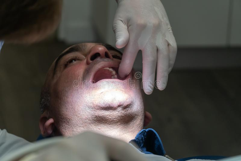 Зубоврачебный проверка стоковая фотография rf