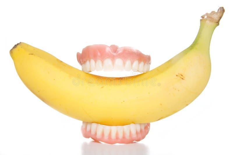 зубы банана стоковые изображения rf
