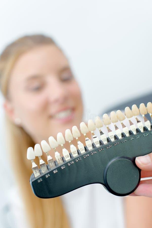 Зубы женщины и комплекта стоковые изображения