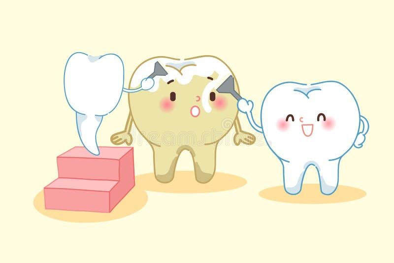 Зубы забеливая концепцию иллюстрация вектора