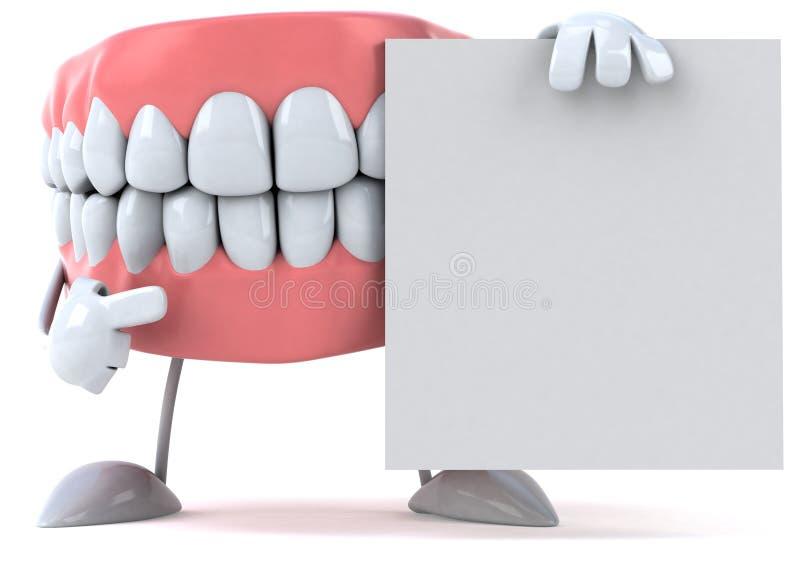 зубы потехи иллюстрация вектора