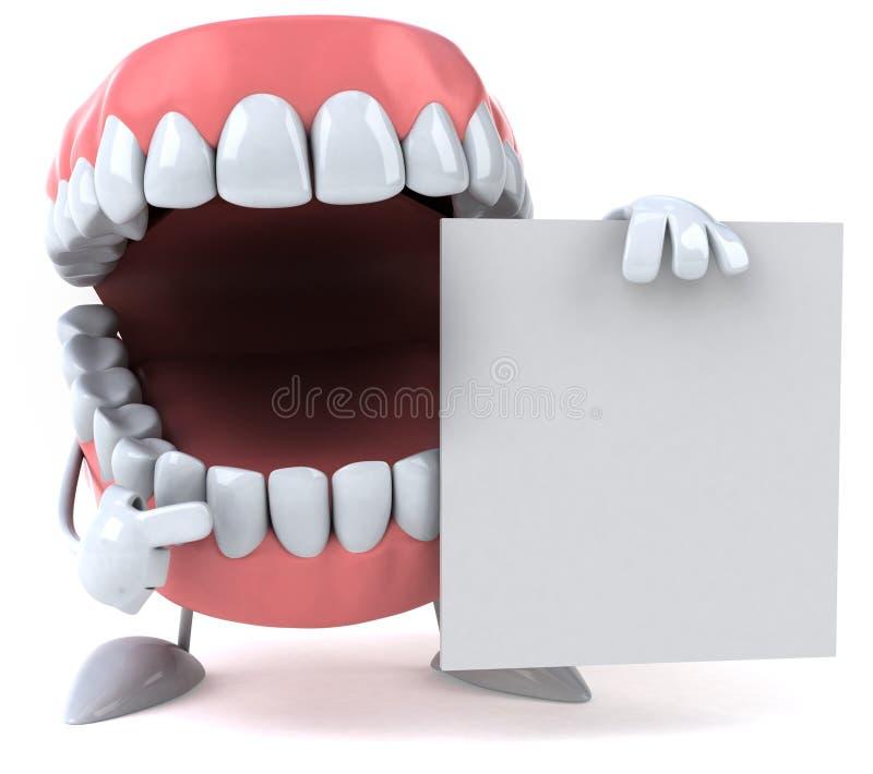 зубы потехи иллюстрация штока