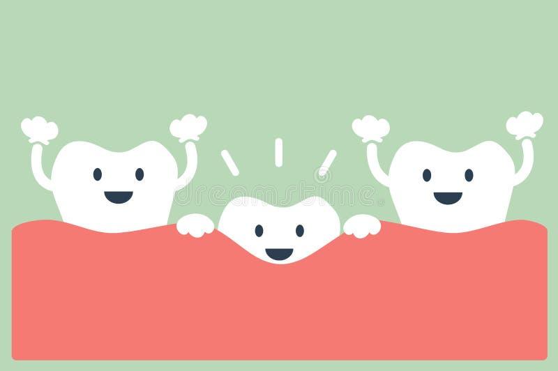 Зубы растут иллюстрация вектора