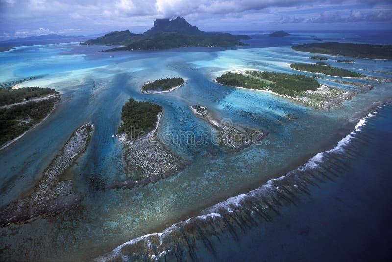 зубы рифа лагуны стоковое изображение rf