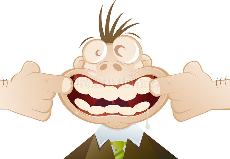 зубы рта шаржа открытые бесплатная иллюстрация