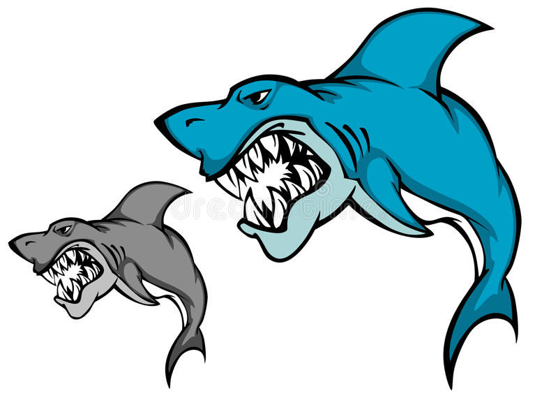 зуб акулы опасности острый иллюстрация вектора