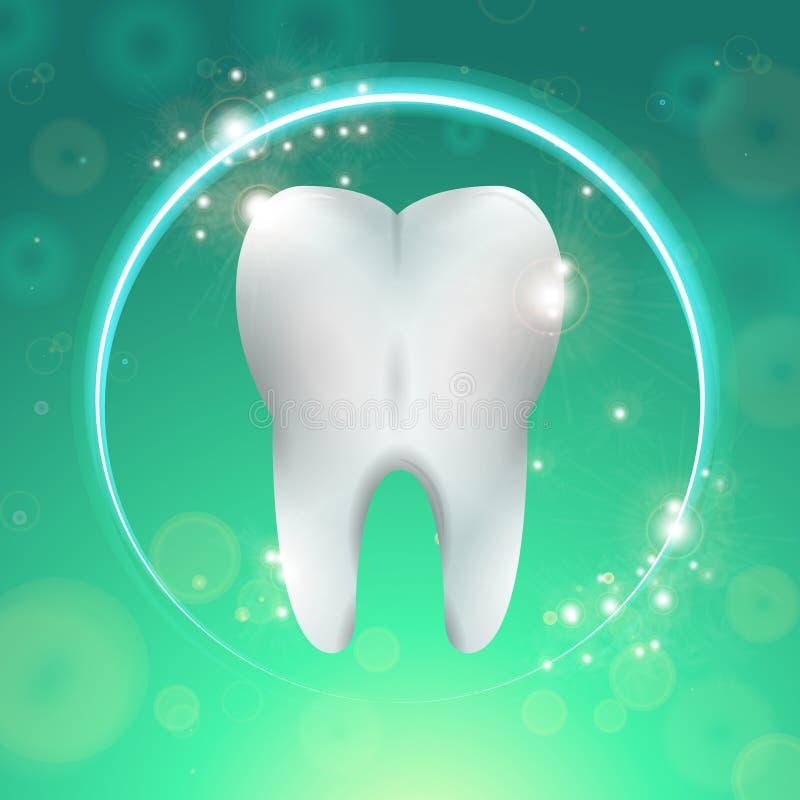 Зуб в круге иллюстрация штока