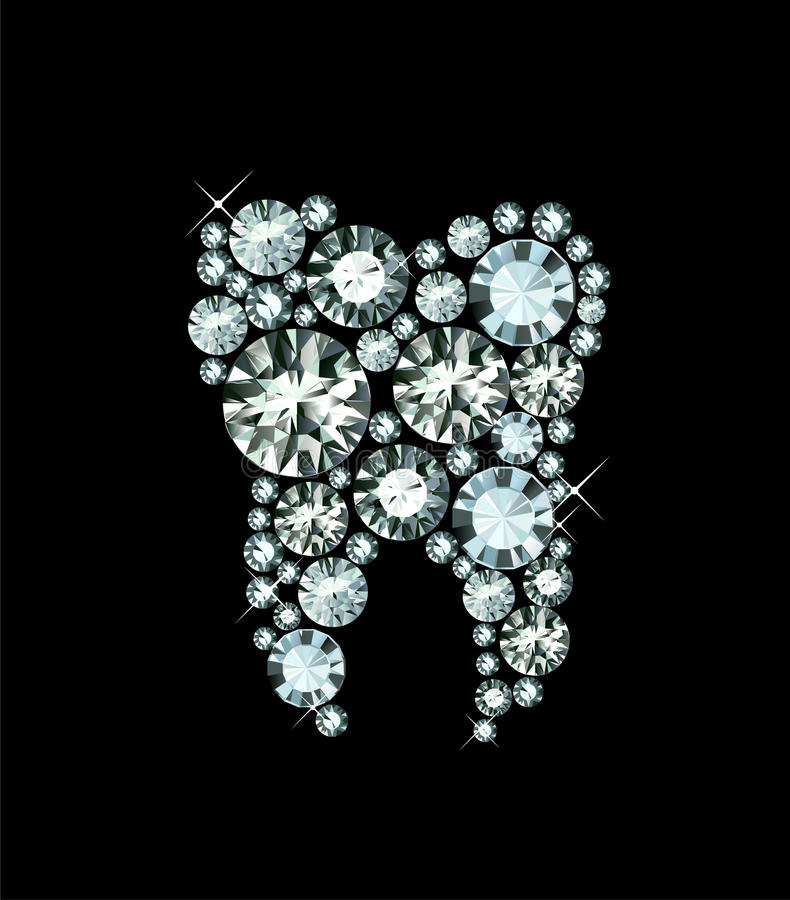 Зуб диаманта иллюстрация вектора