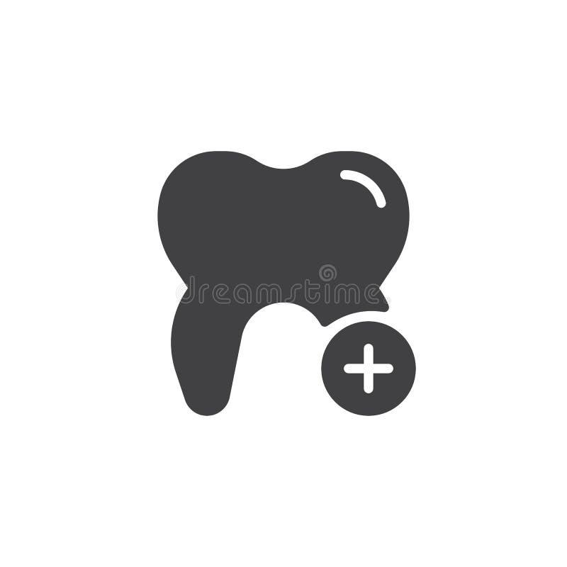 Зуб и добавочный вектор значка иллюстрация вектора