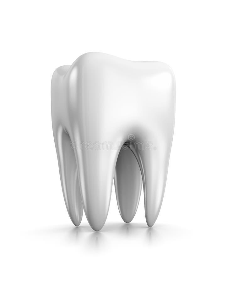 Зуб на белизне бесплатная иллюстрация