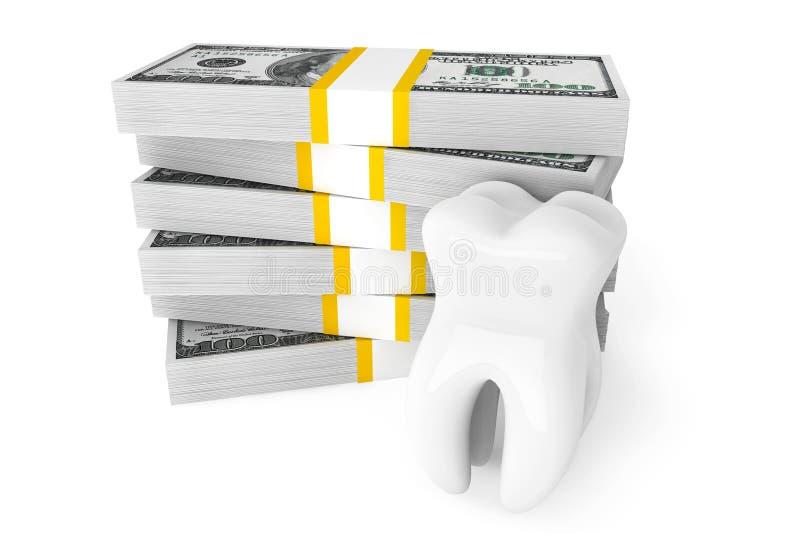 Зуб с деньгами бесплатная иллюстрация