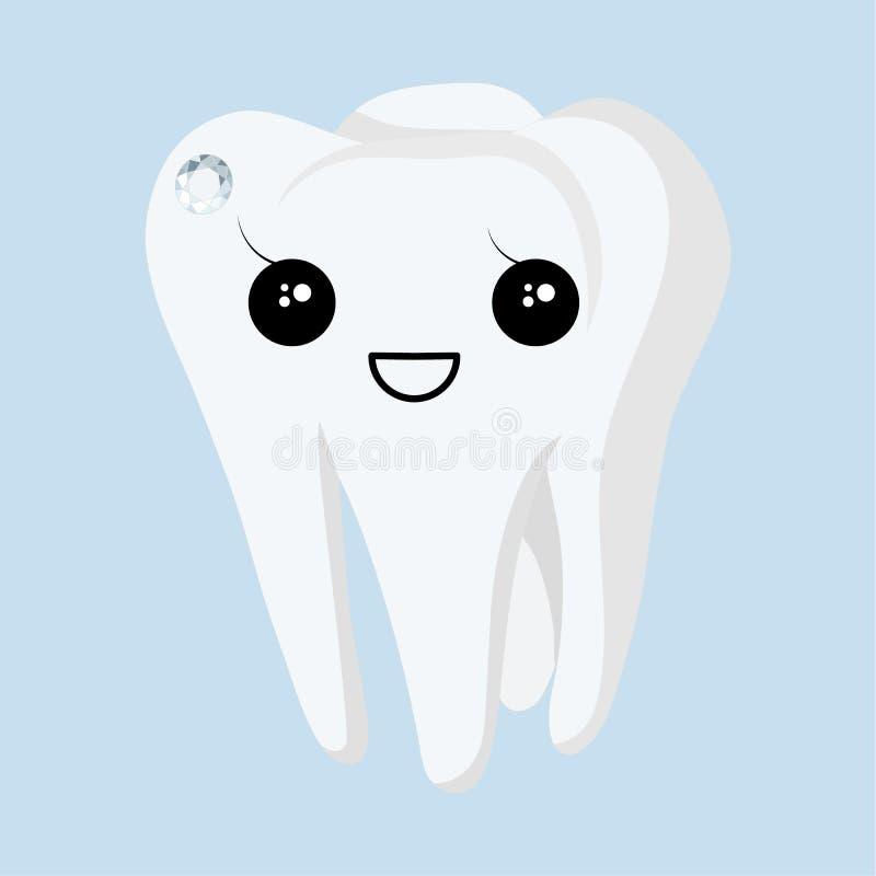 Зуб с skyce на голубой предпосылке r бесплатная иллюстрация