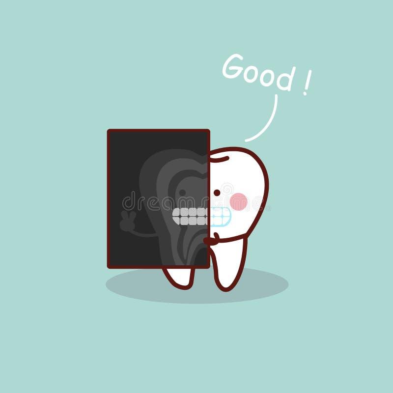 Зуб шаржа с лучем x бесплатная иллюстрация
