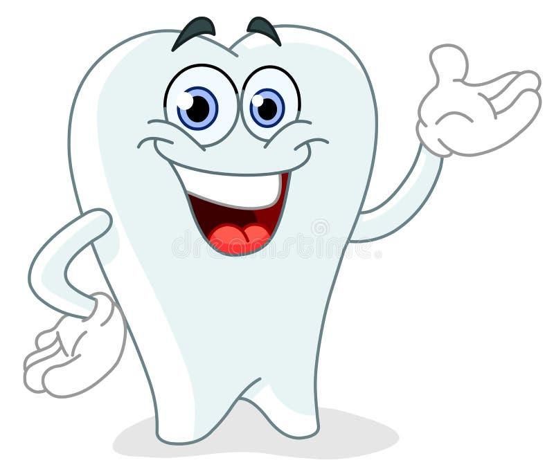 зуб шаржа иллюстрация штока