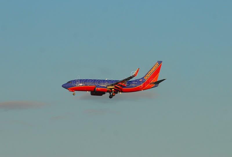 зюйдвест двигателя авиакомпаний стоковые изображения