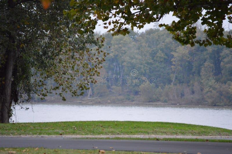 Зябкий берег реки стоковое изображение