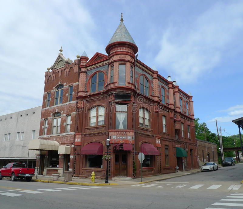 Здание банка Crawford County, Ван Бюрен, Арканзас стоковые изображения