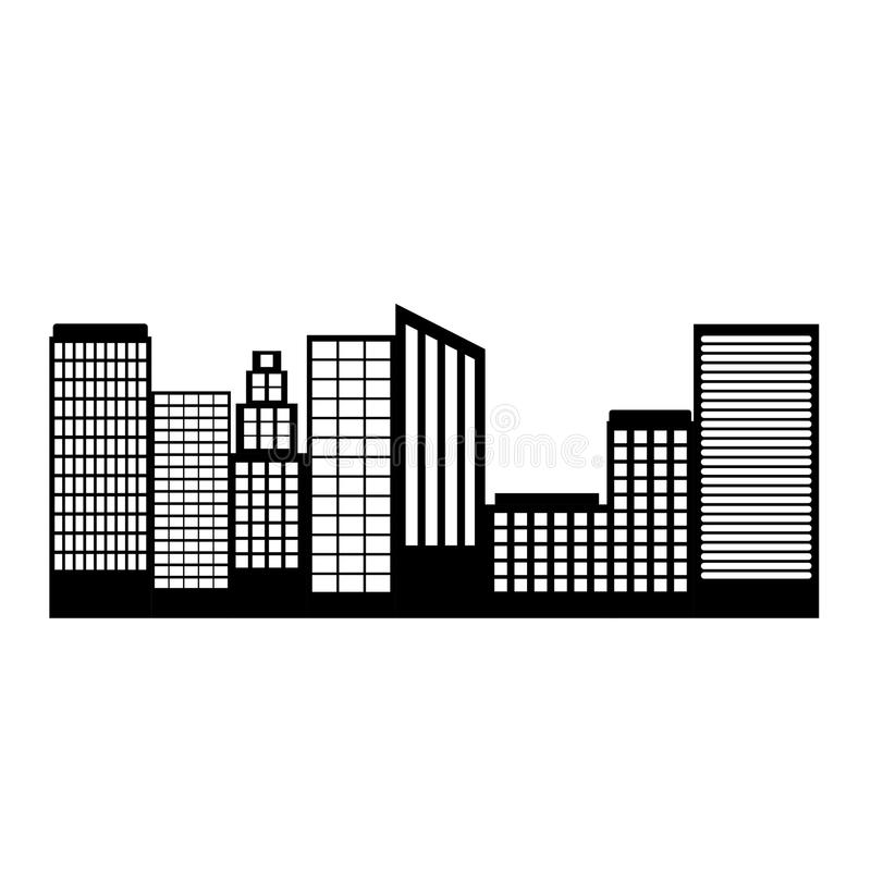 Здание башни дизайна города иллюстрация штока