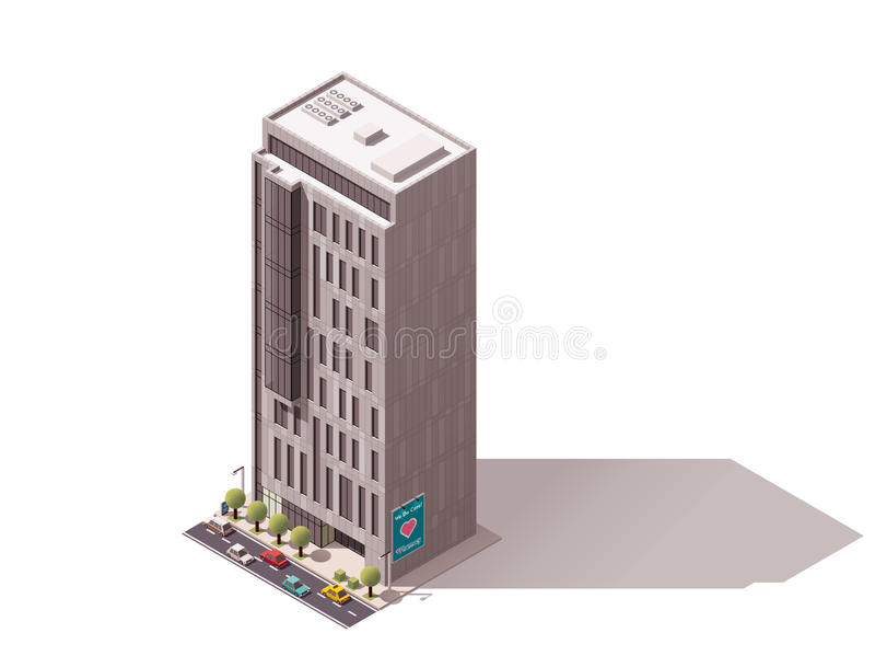 Здание вектора равновеликое иллюстрация штока