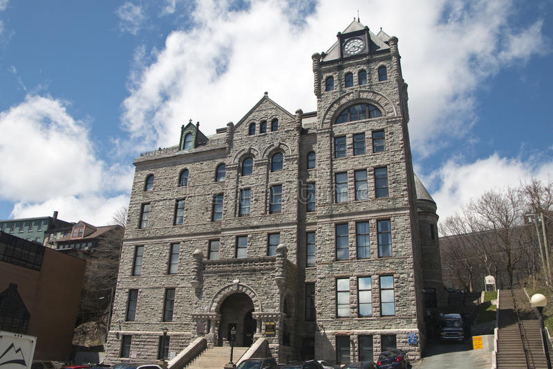 Здание Верховного Суда, городской St. Johns, Ньюфаундленд стоковые изображения rf