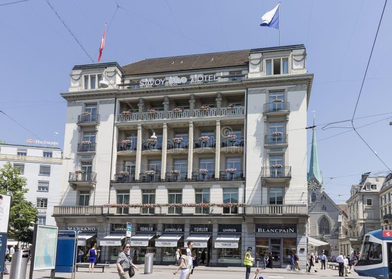 Здание вокзала Цюриха Швейцарии историческое стоковая фотография rf