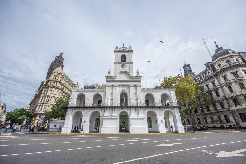 Здание в Буэнос-Айрес, Аргентина Cabildo стоковое изображение