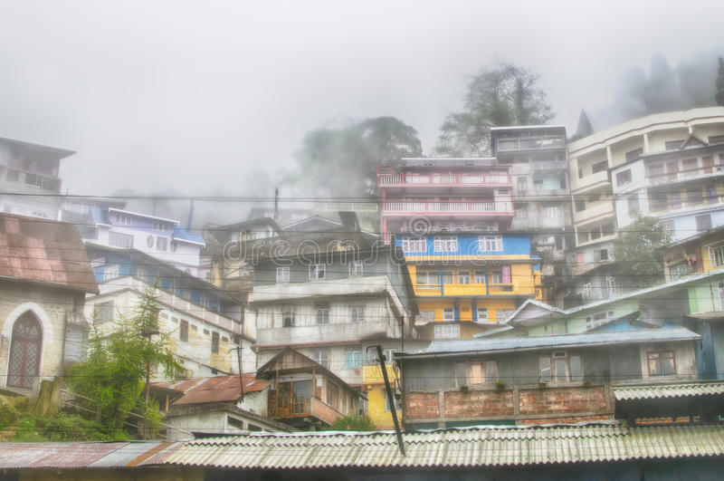 Здание в Darjeeling, Индии стоковое изображение
