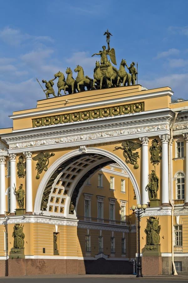 Здание генерального штаба, Санкт-Петербург стоковые изображения