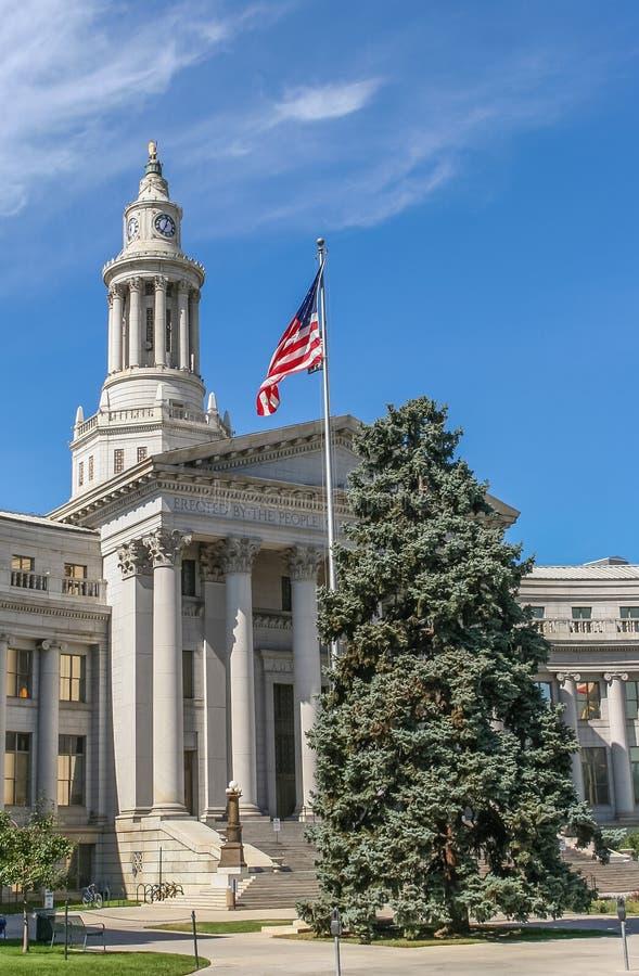 Здание города и графства Денвера в Колорадо стоковое изображение