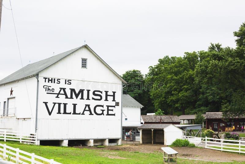 Здание деревни Амишей стоковая фотография rf