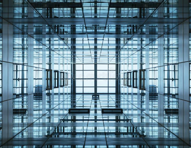 Здание детали архитектуры современное с стеклянным фасадом стоковые фото