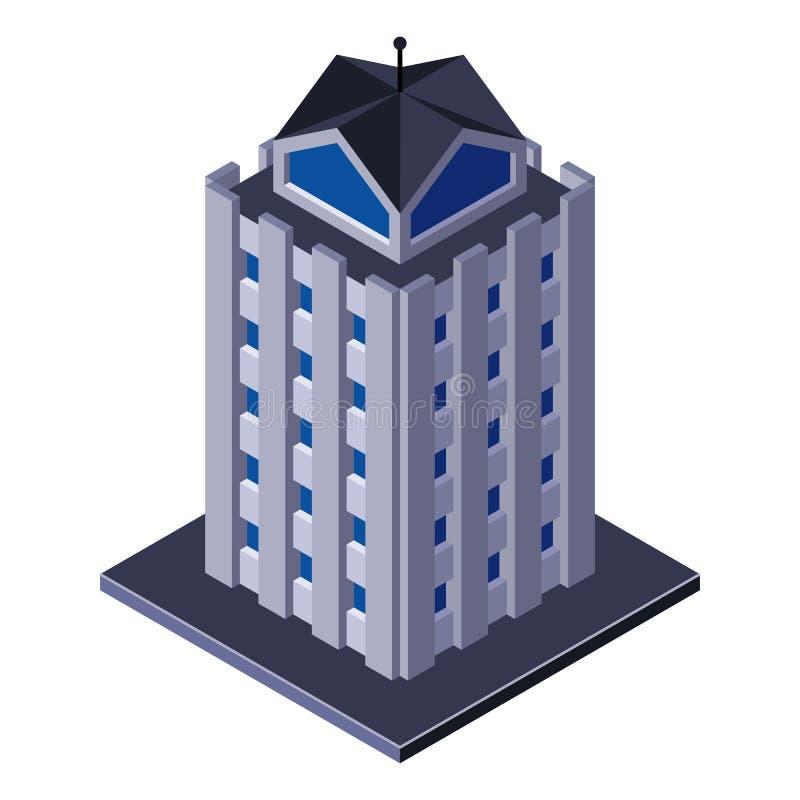 Здание делового центра небоскреба, офис, для брошюр недвижимости или значка сети равновелико иллюстрация вектора