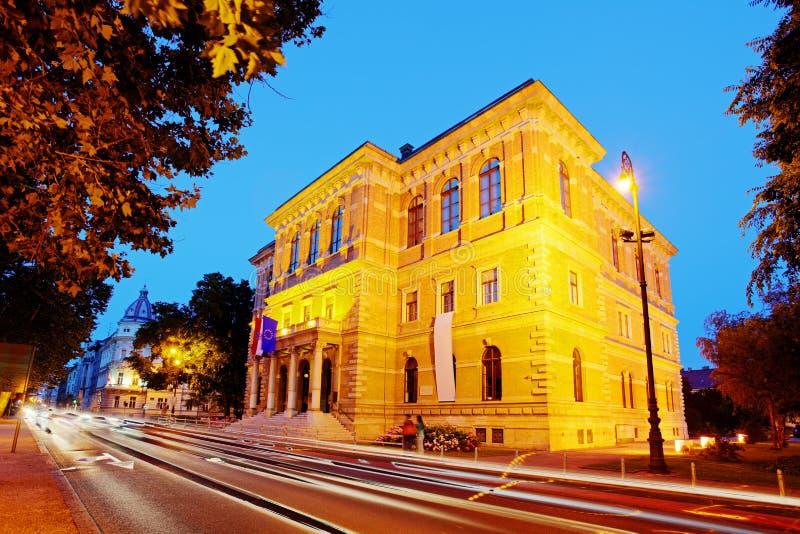 Здание Загреба - хорватская академия наук стоковые изображения rf