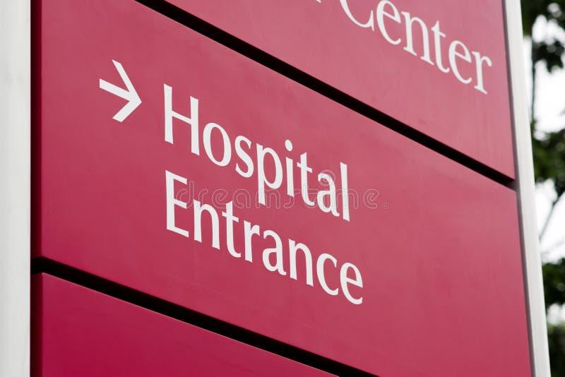 Здание здравоохранения непредвиденной местной больницы входа срочное стоковые изображения