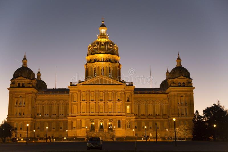 Здание капитолия положения Айовы в Des Moines стоковое фото