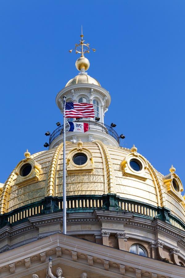 Здание капитолия положения Айовы, Des Moines стоковая фотография