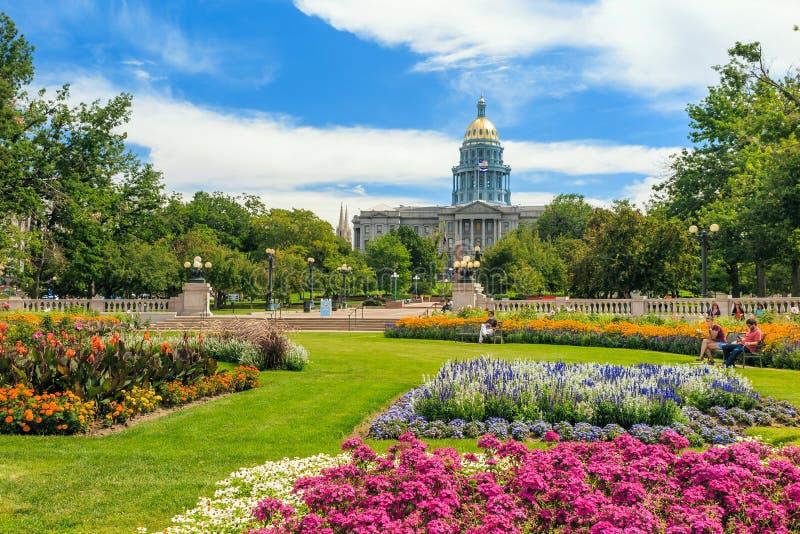 Здание капитолия положения Колорадо стоковая фотография rf