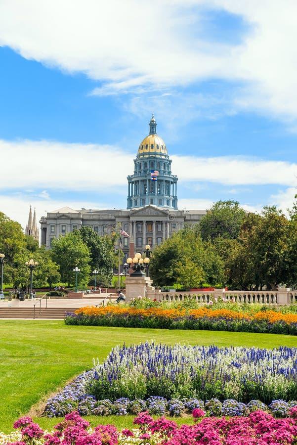 Здание капитолия положения Колорадо стоковое изображение