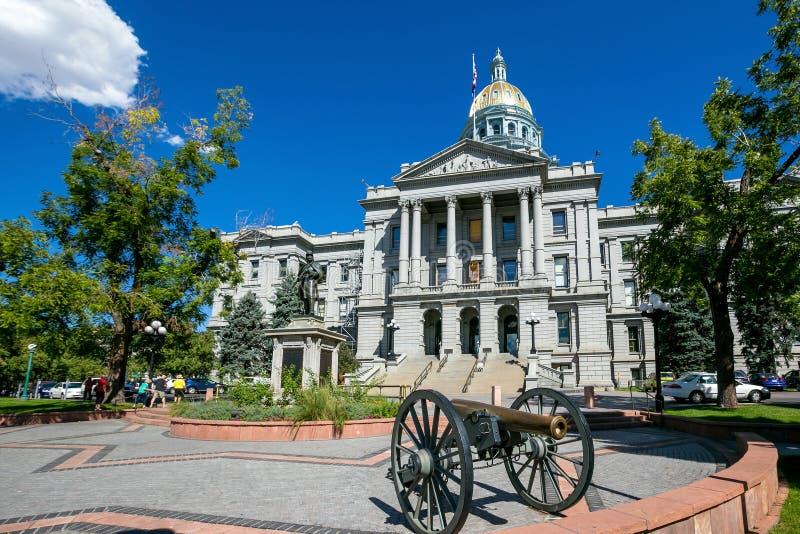 Здание капитолия положения Колорадо стоковое изображение rf