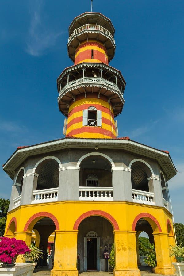 Здание китайского стиля на дворце Bangpain королевском, Ayutthaya внутри стоковые изображения