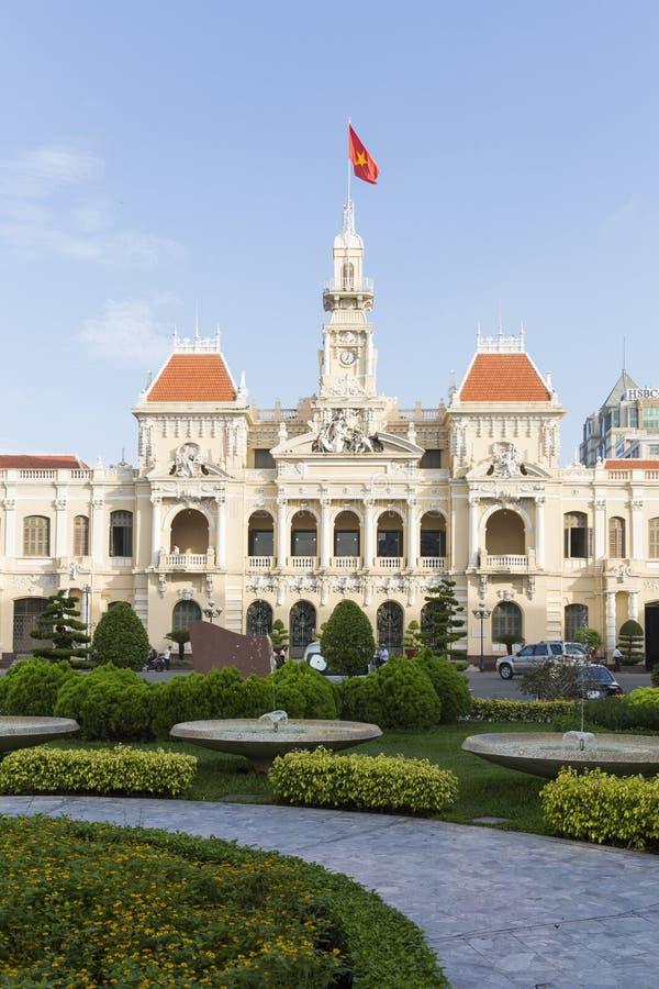 Здание комитета людей Хошимина, Вьетнама стоковые фотографии rf