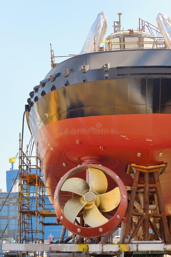 Здание корабля стоковые фотографии rf