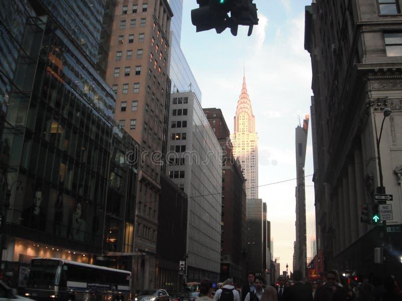 Здание Крайслера - Нью-Йорк стоковая фотография rf